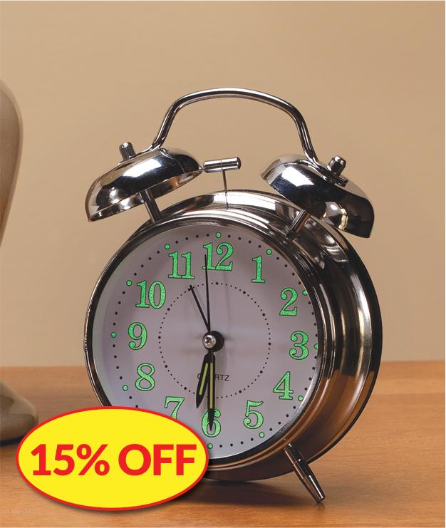 15% OFF Clocks