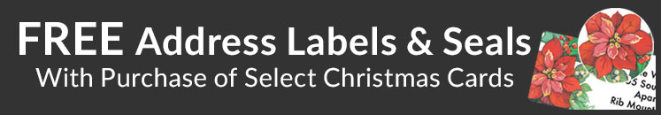 Free Labels with Christmas Card Purchase