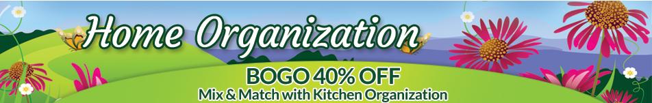BOGO 40% OFF Home Organization Header