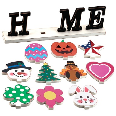 Home Holiday Sign with Interchangeable Icons