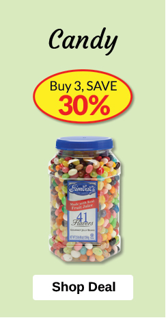 Candy - Buy 3, SAVE 30%