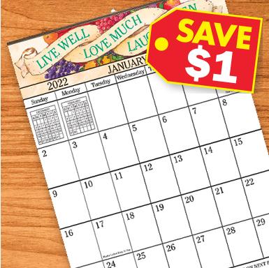 Giant Calendars - Save $1