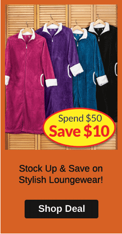 Spend $50, SAVE $10 Loungewear