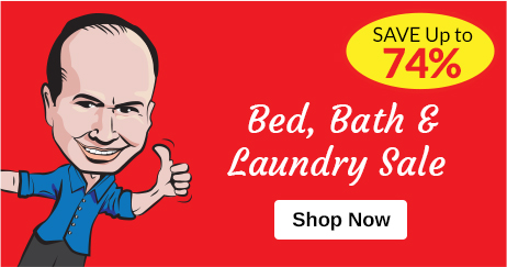 Bed, Bath & Laundry Sale - Save Up to 55%
