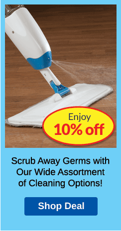 10% OFF Cleaning PLP Ad