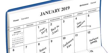 2019 Calendars --