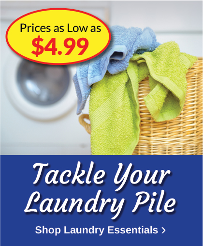 Laundry Essentials as Low as $4.99
