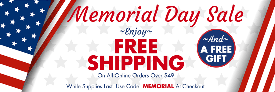 Memorial Day Sale - Free Shipping and Free Gift