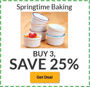 Buy 3, SAVE 25% Springtime Baking