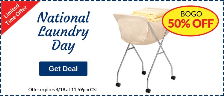 BOGO 50% Off National Laundry Day