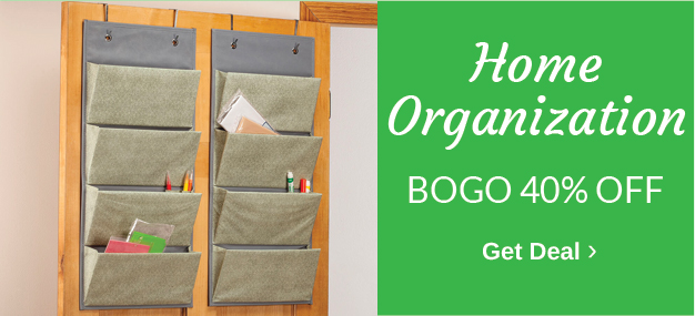 BOGO 40% OFF Home Organization