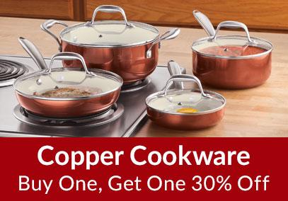 Copper Cookware - Buy 1, Get 1 30% Off