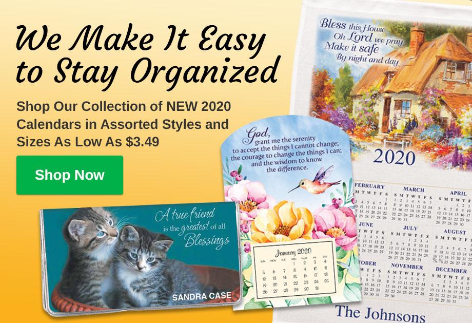 New 2020 Calendars