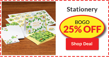 BOGO 25% OFF Stationery