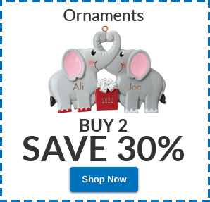 Buy 2 Ornaments, SAVE 30%