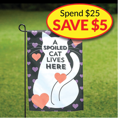 Spend $25 on Garden Flags, SAVE $5