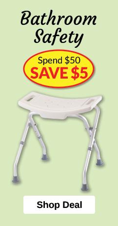 Bathroom Safety - Spend $50, SAVE $5