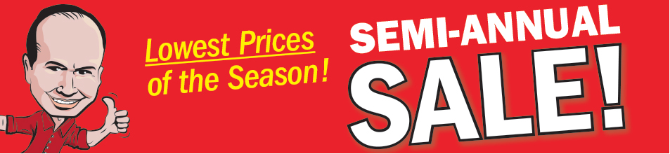 Semi Annual Sale - Save Up to 72%