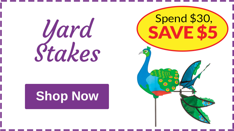 Yard Stakes - Spend $30, Save $5