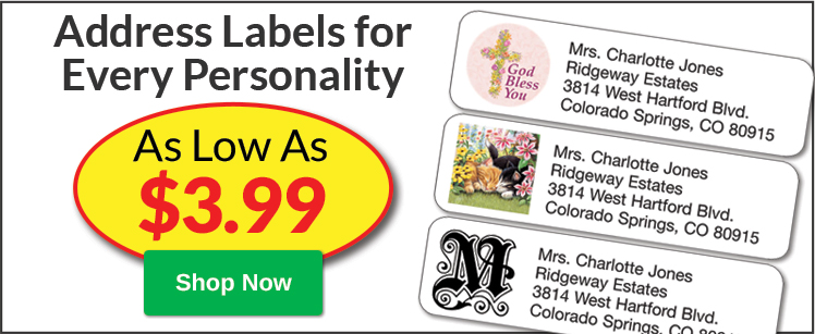 Address Labels as Low as $3.99