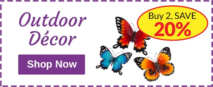 Outdoor Decor - Buy 2, SAVE 20%