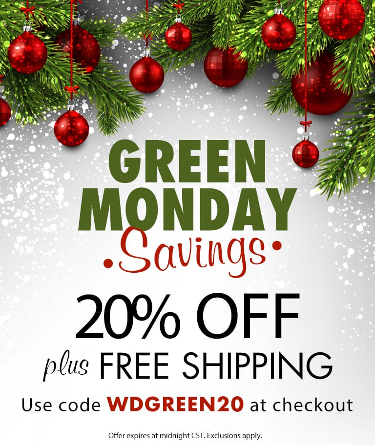 20% Off + Free Shipping - Use Code WDGREEN20