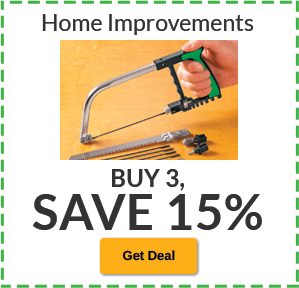 Buy 3, SAVE 15% Home Improvement
