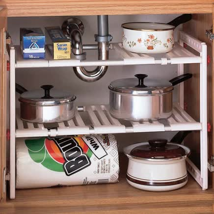 Under Sink Expandable Shelf-302556