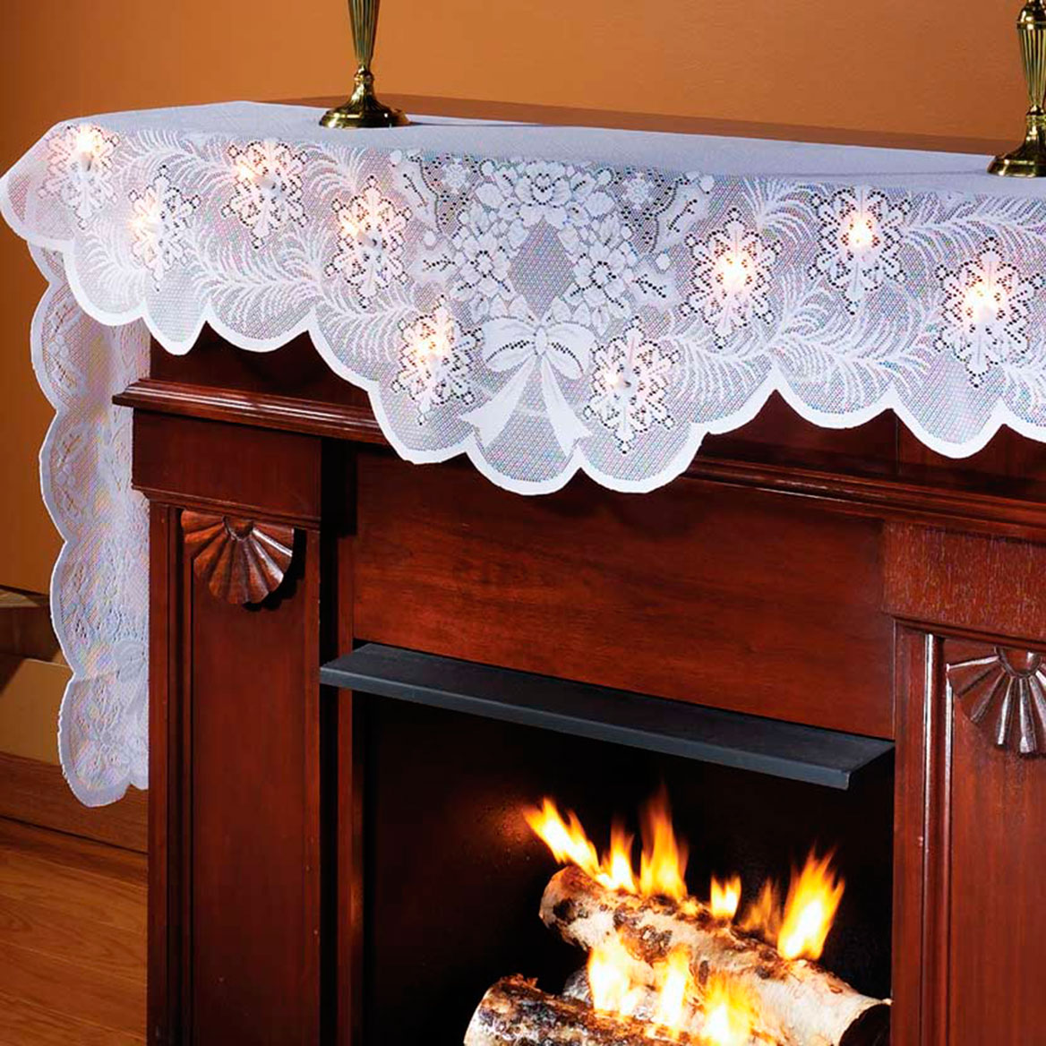 Lighted Mantel Scarf Lace Mantel Scarf Walter Drake