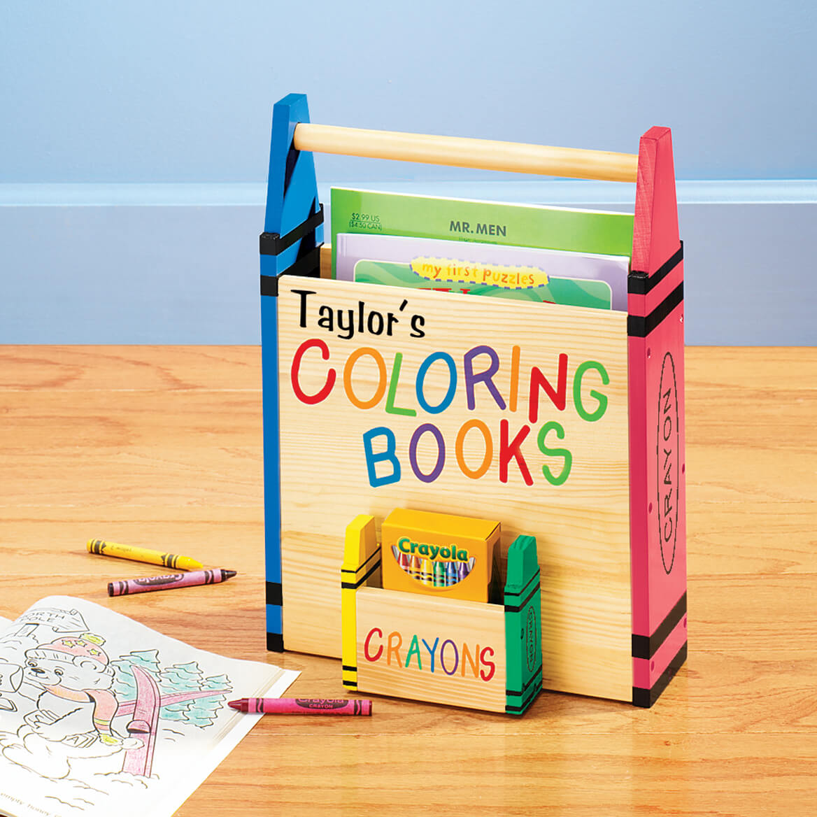 Personalized Coloring Book Holder - Children\'s - Walter Drake
