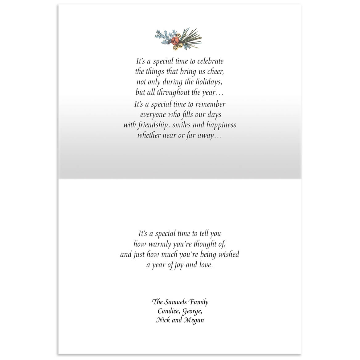 Personalized List Of Blessings Embossed Set Of 20 Greeting Card