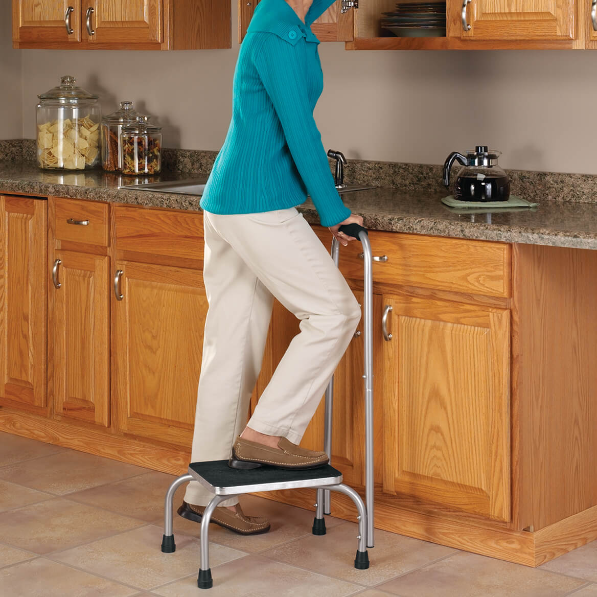 Step Stool With Handle Step Stool With Handrail Walter