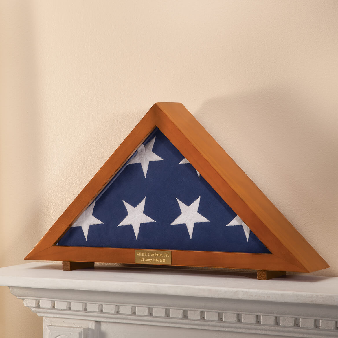 Personalized Veterans Flag Display Case     XL-332797