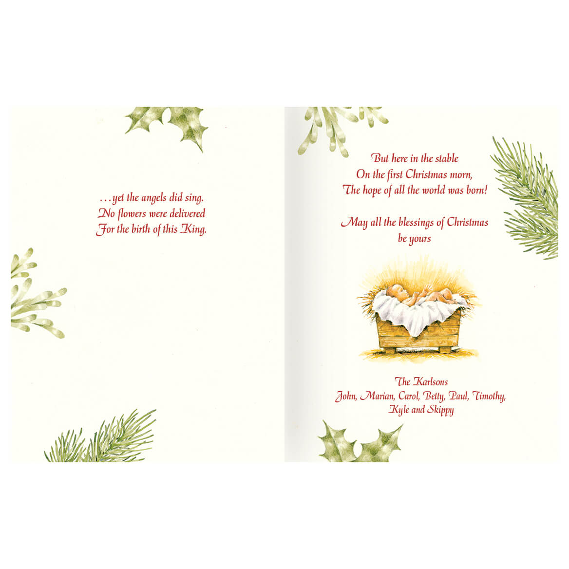 Personalized Christmas Certificate Card Set of 20 - Walter Drake