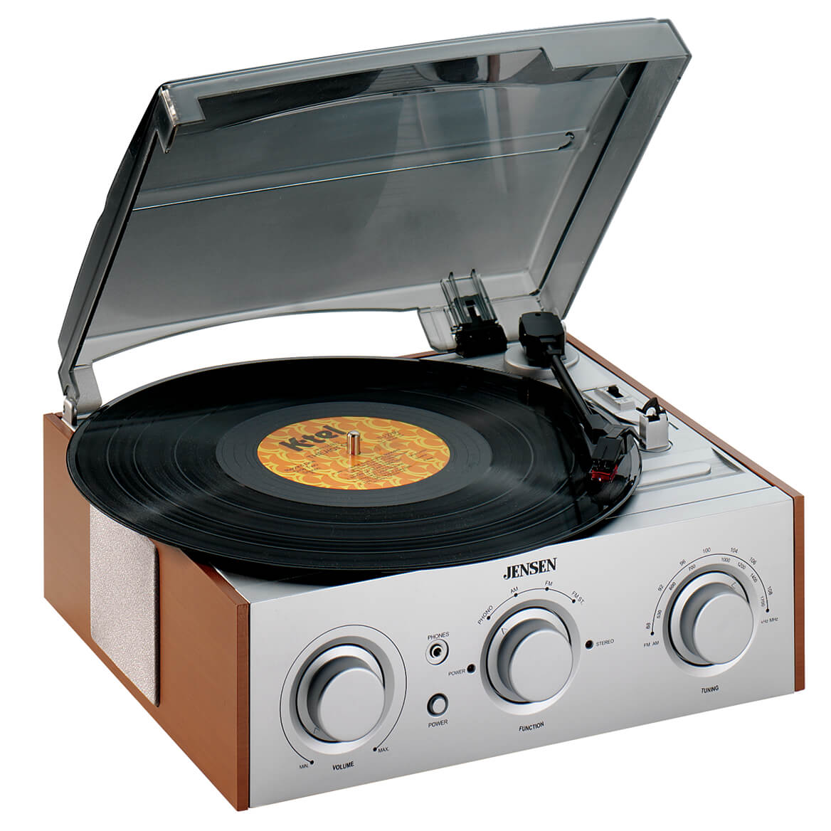 Jensen® 3 Speed Stereo Turntable with Radio-336327