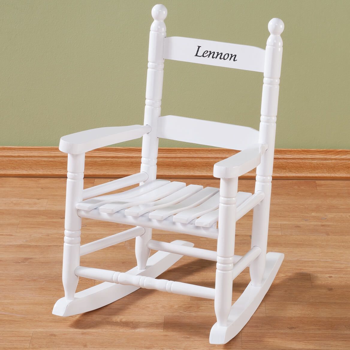 Personalized Childs White Rocker-339152