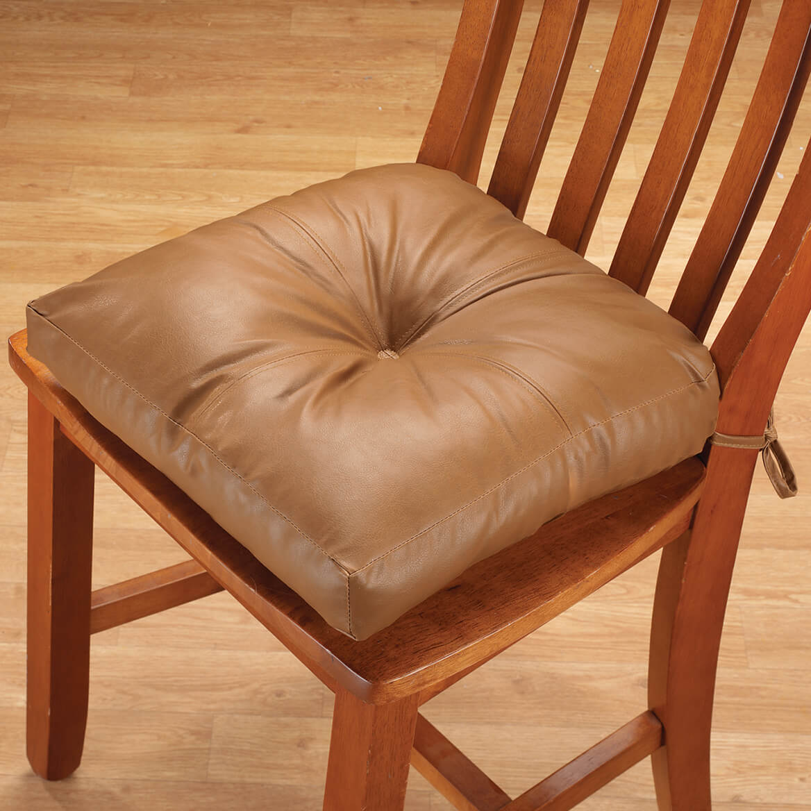 Faux Leather Chair Pad-341587