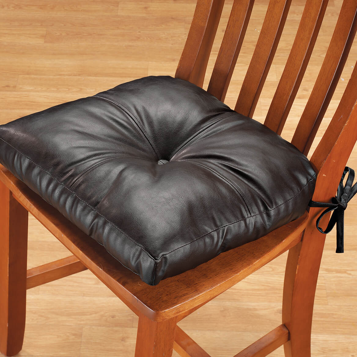 faux leather chair pads