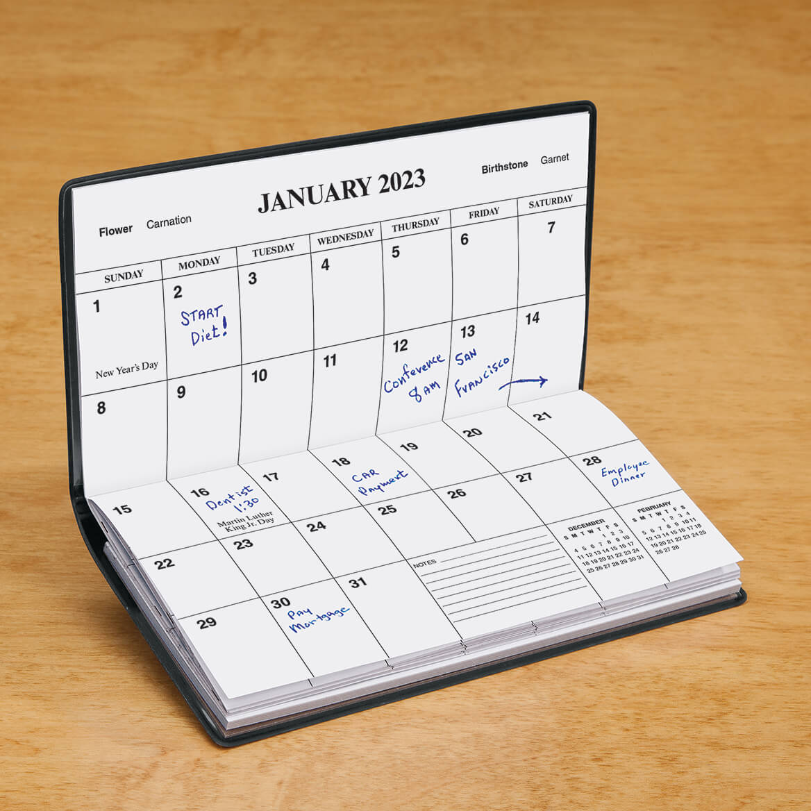 Black Personalized 2 Year Planner-342135