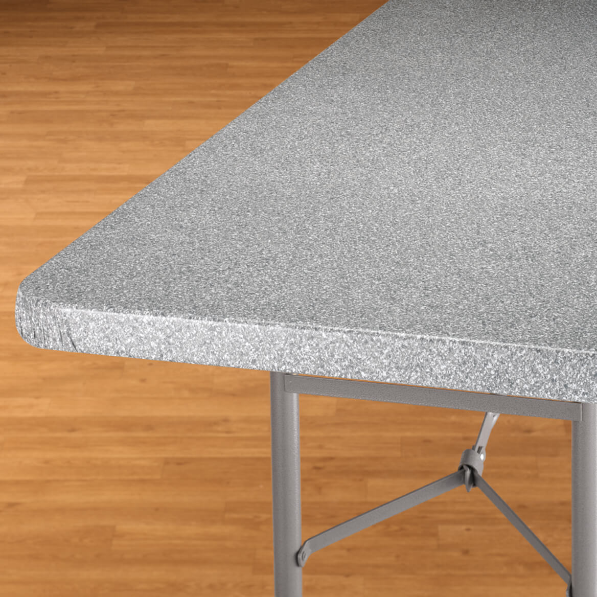Granite Vinyl Elasticized Banquet Table Cover-344618