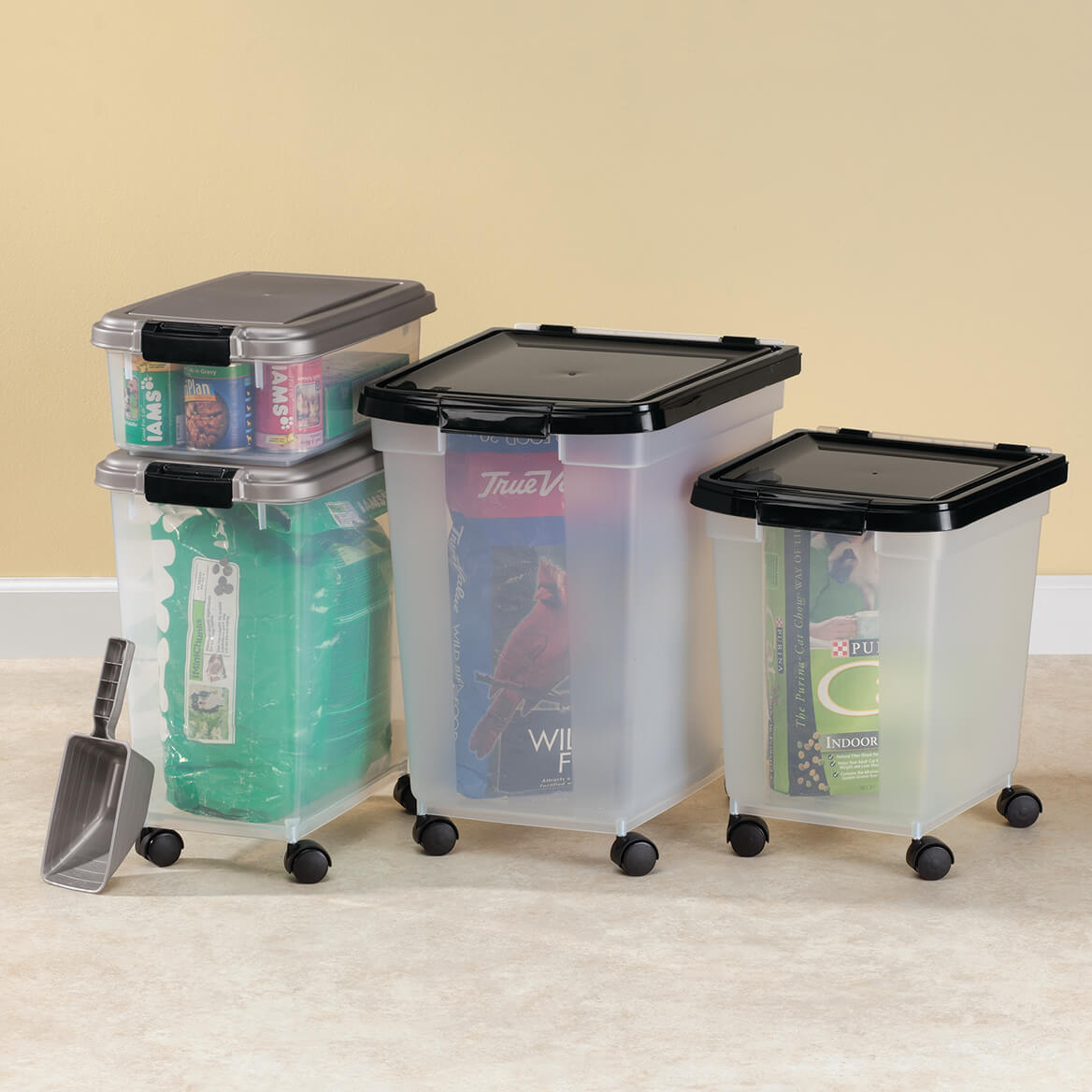 24.99 & Rolling Storage Bins - Rolling Plastic Storage Bins - Walter Drake