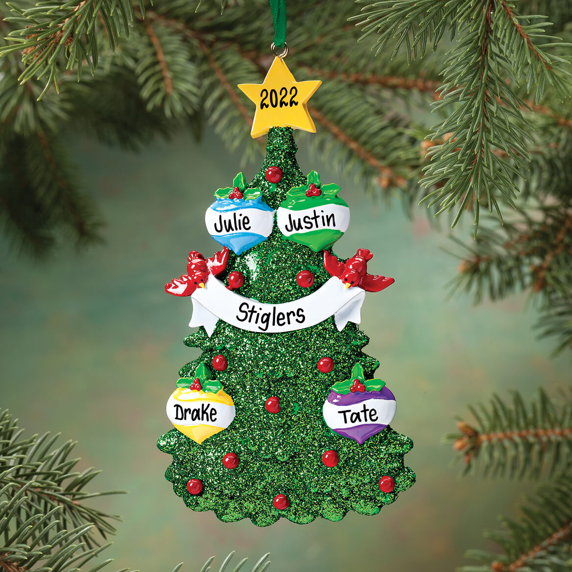 Personalized christmas tree ornament ornaments walter for Custom christmas tree ornaments