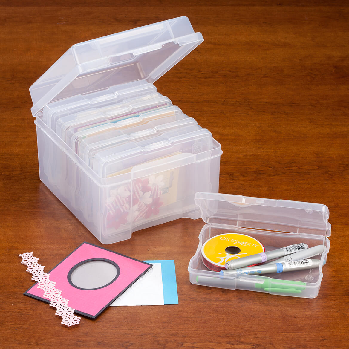 Plastic Photo Storage Set of 7-347427