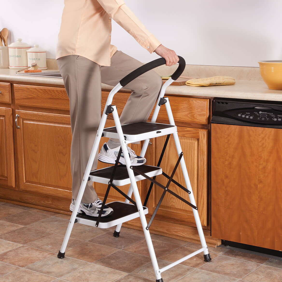 Ordinaire Step Ladder Stool Combo