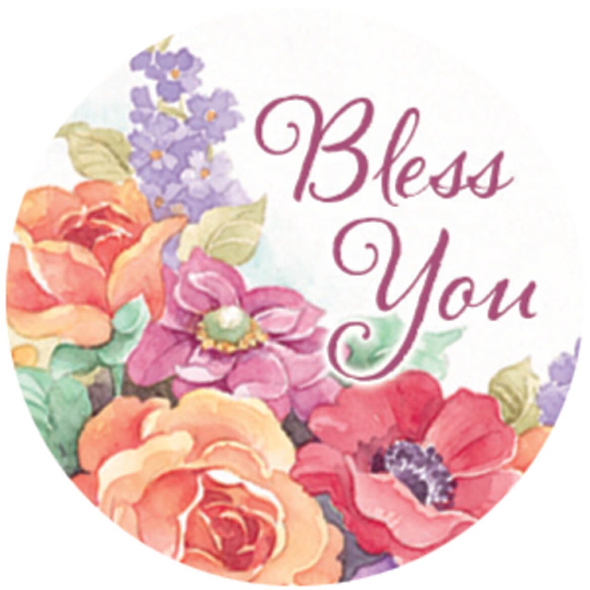 Religious Floral Stickers, Set of 144-347913