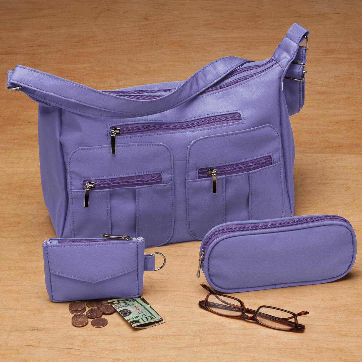 Microfiber 3-Piece Handbag Set-349300