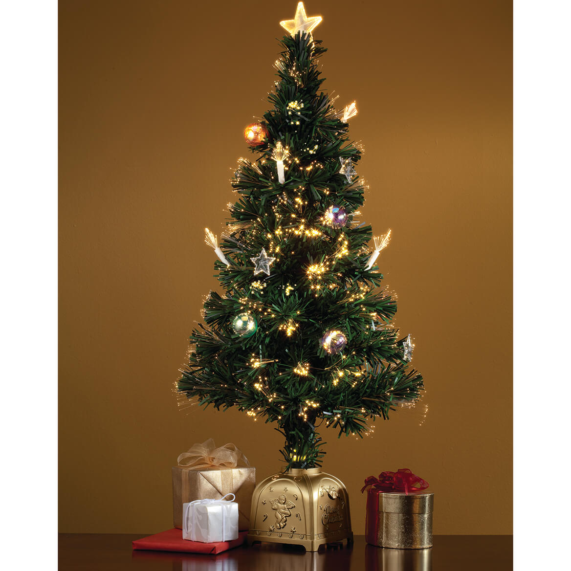 ... 3' Musical Spinning Fiber Optic Tree by Holiday Peak™-349693