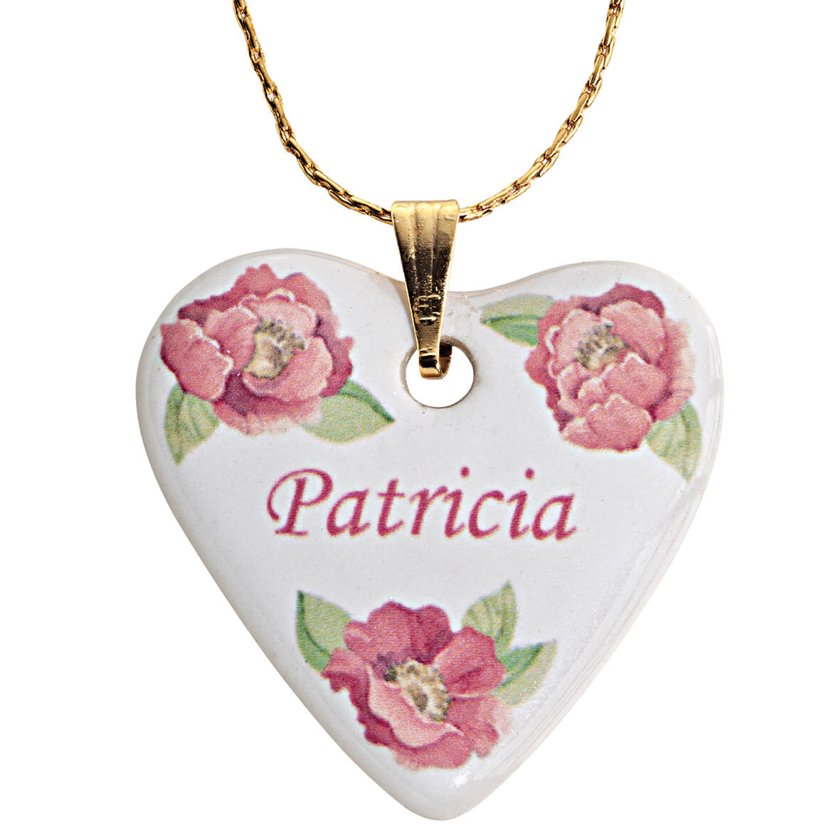 Personalized Porcelain Heart Necklace With Chain-351222