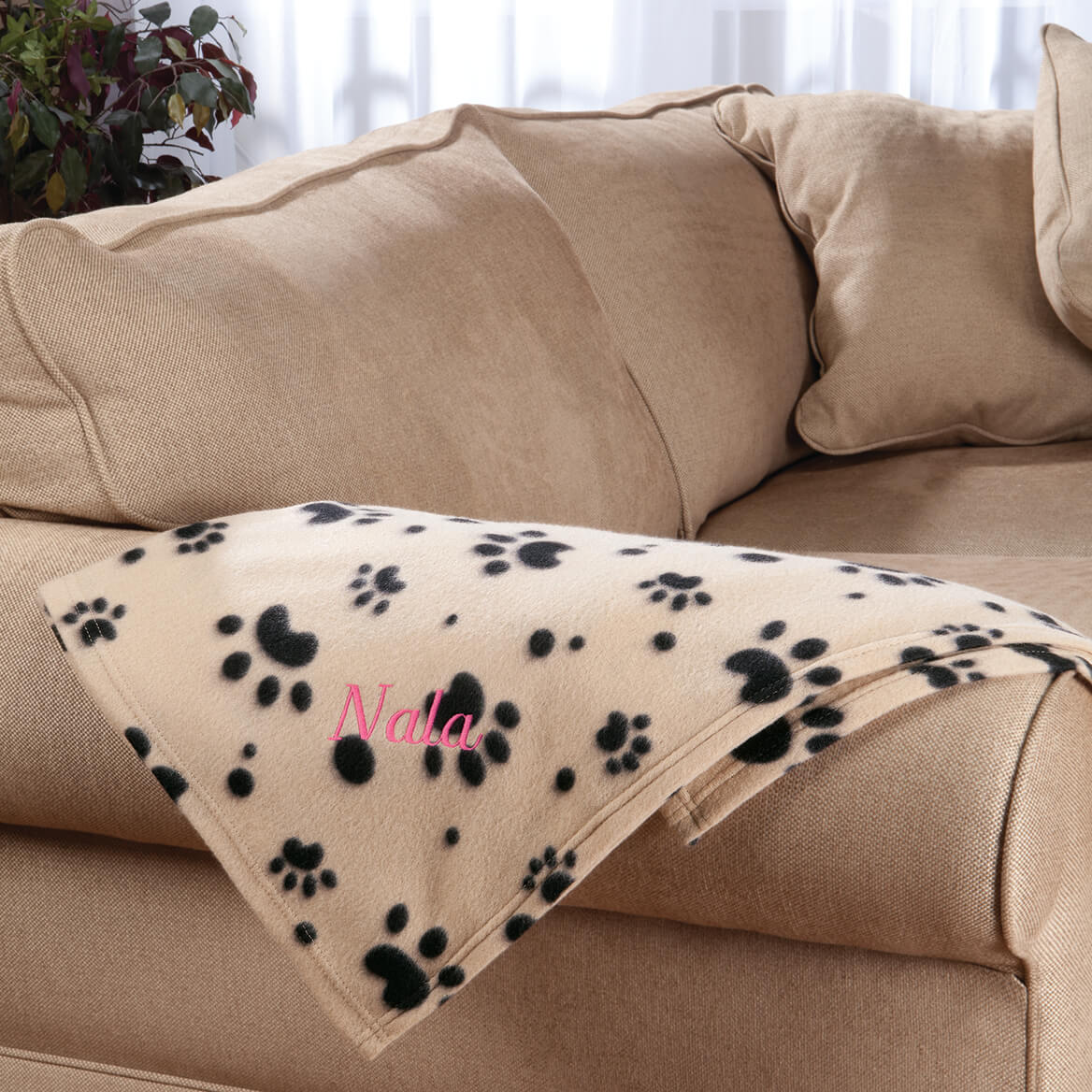 Personalized Paw Print Pet Blanket-351600