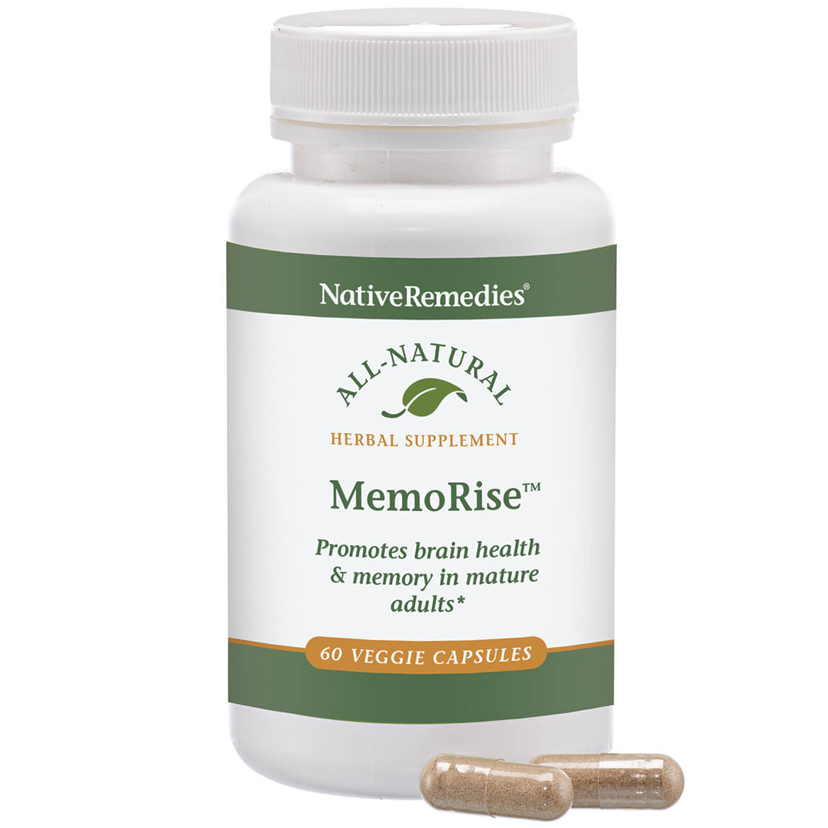 NativeRemedies® MemoRise™ - 60 Veggie Capsules-351922